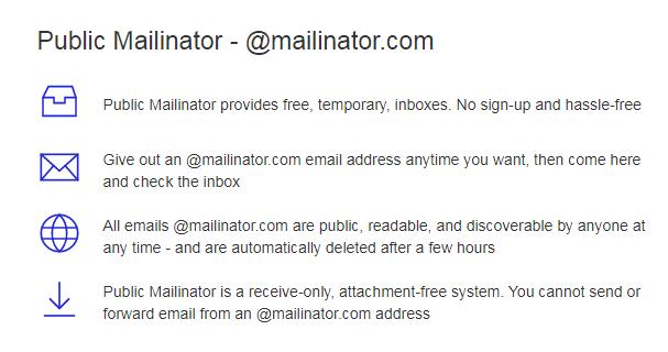 Don't leak sensitive data via public mailboxes